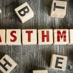 Wooden Blocks with the text: Asthma